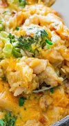 Yummy Cheesy Chicken Broccoli Rice Casserole