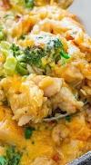 Yummy Cheesy Chicken Broccoli Rice Casserole