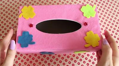 kotak tisu dari kain flanel