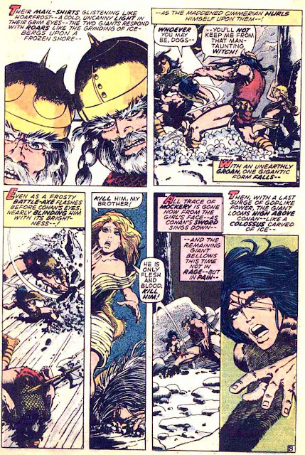 Conan the Barbarian v1 #16 marvel comic book page art by Barry Windsor Smith