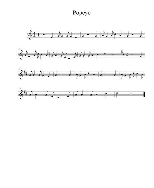 Banda Sonora - Popeye partitura
