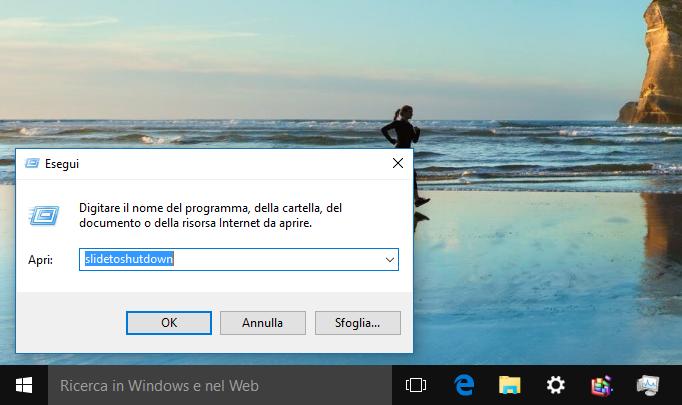 Come spegnere PC Windows 10 con un semplice Slide verso il basso HTNovo 2