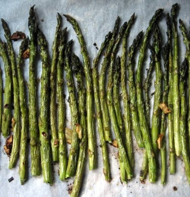roasted asparagus with infused olive oil
