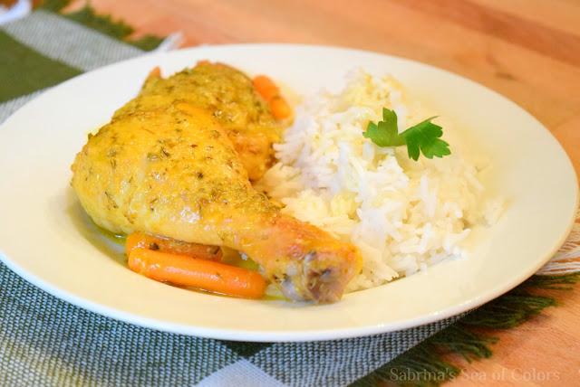 Pollo al horno con salsa de naranja