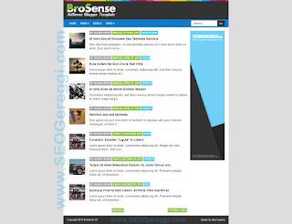 BroSense Adsense Blogger Template