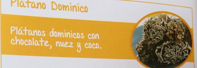 Plátanos dominicos con chocolate, nuez y coco.    Receta con Plátano Dominico