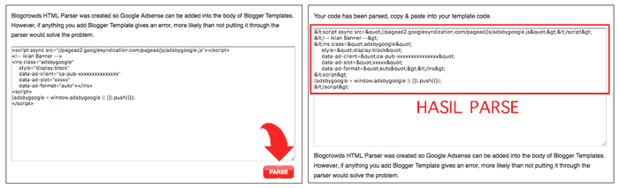 Cara Parse Kode Iklan Google AdSense
