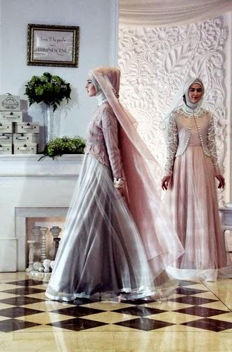 kerudung pengantin muslimah