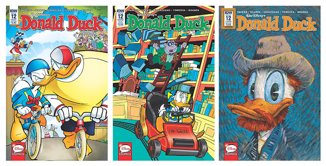 All three cover variants for IDW's Donald Duck #12 (379)