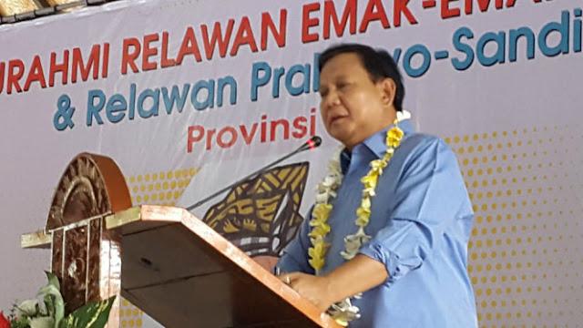 Prabowo: Rakyat Pelan-pelan Sadar Ekonomi Tidak Beres