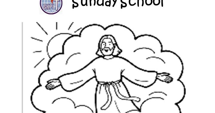 Bunga Kecil Tuhan Tuhan Yesus Naik Ke Surga