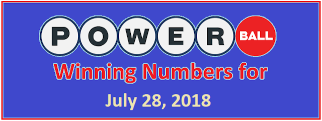 Powerball Winning Numbers For Saturday 28 July 2018