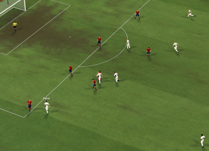 attacking play: Players rushing into final third