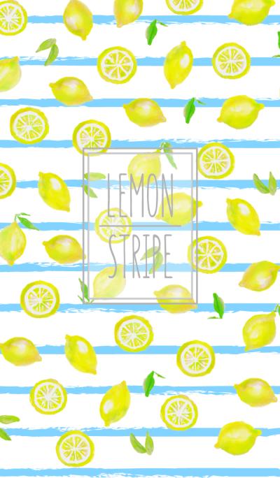 Adult watercolor painting:Lemon stripe