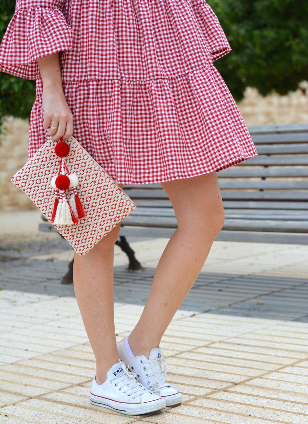 zara-gingham-mini-dress-clutch-maxmara