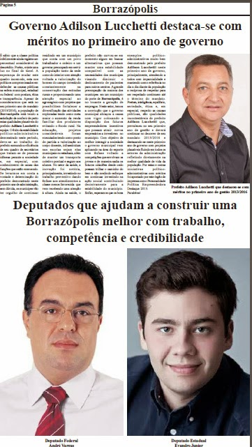 Prefeito de Borrazópolis é Destaque no Paraná