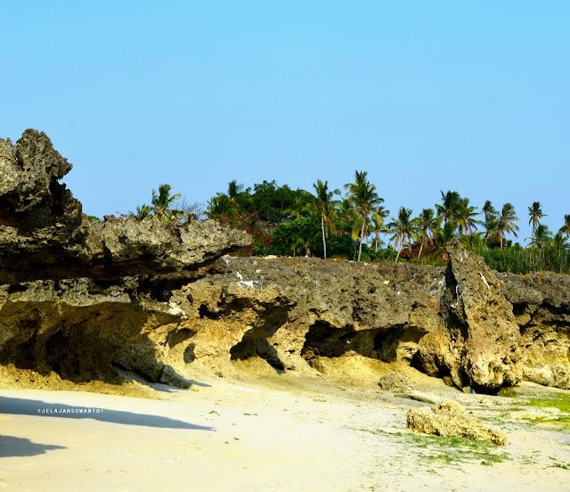 Tebing karang Pantai Lemo-Lemo zoom in
