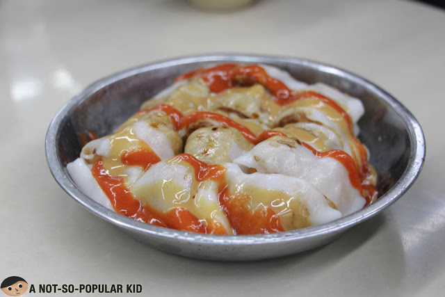 Rice Noodle Roll with Twisted Cruller (炸兩)