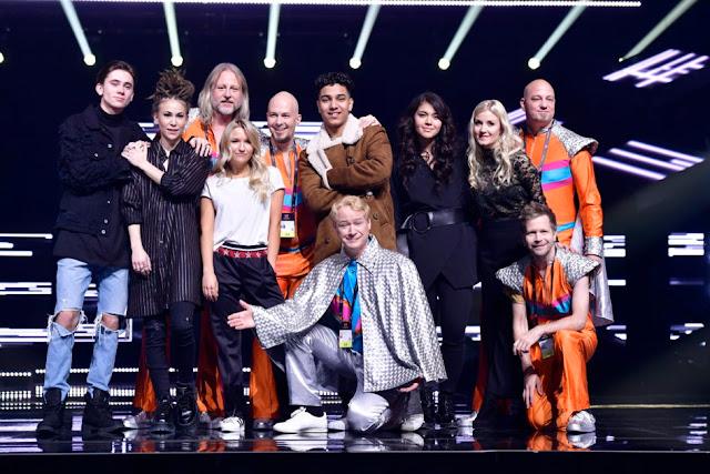 Participantes de la cuarta semifinal del Melodifestivalen