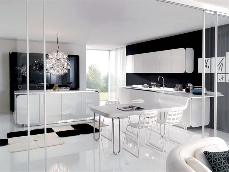 Cocinas en blanco y negro colores en casa for Muebles de cocina negro