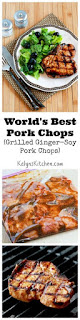 Grilled Ginger-Soy Pork Chops or World's Best Pork Chops Recipe (Low-Carb, Gluten-Free, Easy to Cook) [from KalynsKitchen.com]