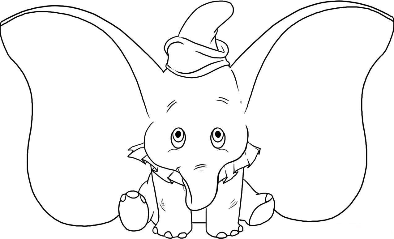 Dibujo Elefante Para Colorear E Imprimir: DESENHOS DE DUMBO O ELEFANTE PARA PINTAR, COLORIR