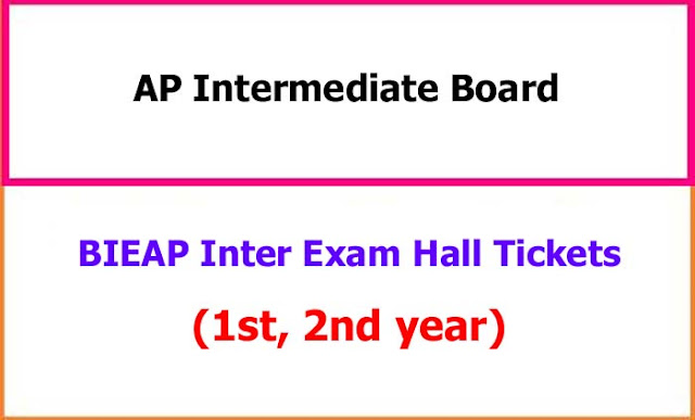 AP Inter Hall Tickets