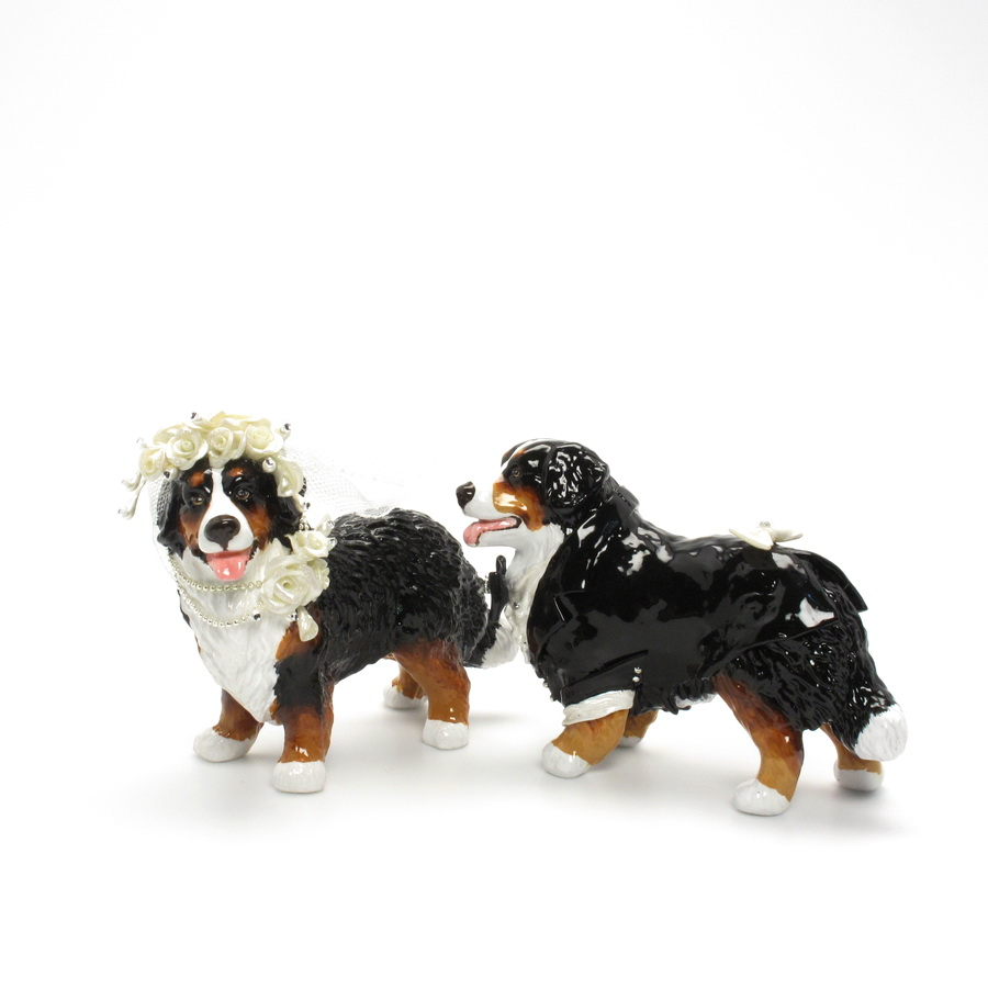 bernese mountain dog wedding cake topper bernese mountain gifts bernese mountain cake 11267