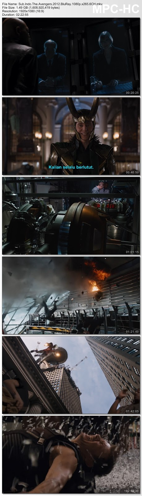 Screenshots Download Film Gratis The Avengers (2012) BluRay 480p MP4 Subtitle Bahasa Indonesia 3GP