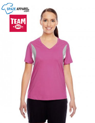 Team 365 TT10W Ladies' Short Sleeve V Neck All Sport Jersey