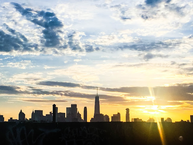 Brooklyn Bridge NYC Sunset View Skyline