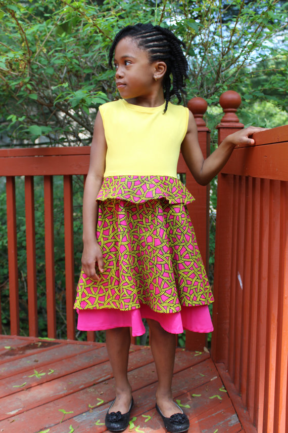 Simple Ankara gown Style for Kids - DeZango