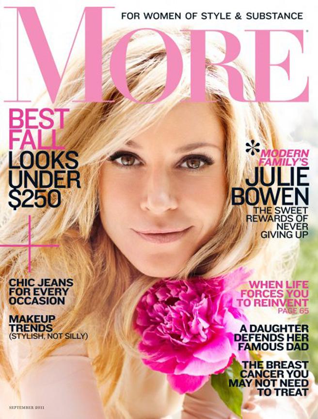 More Magazine November 2014 Issue: Julie Bowen Covers More Magazine September 2011