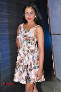 Actress Madhu Shalini Stills in Floral Short Dress at RGV Shiva to Vangaveeti Event  0108.JPG