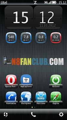 Mobile Data Tracker Widgets - AttisX & Atlantis Style - Nokia N8