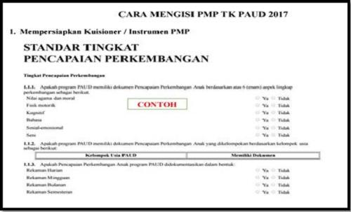 Download Langkah Pengisian PMP PAUD/TK