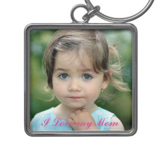 Customized Keychains for Mom - Custom Photo, 'I Love My Mom', Keychain