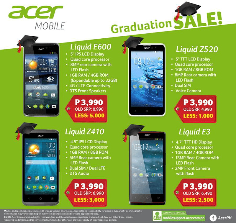 The Rest Of The 2016 Graduation Sale By Acer Philippines!