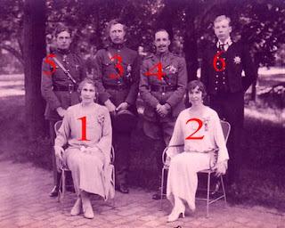 Alphonse XIII et Victoria Eugénie d'Espagne chez Albert I et Elisabeth, roi et reine des Belges (1923)