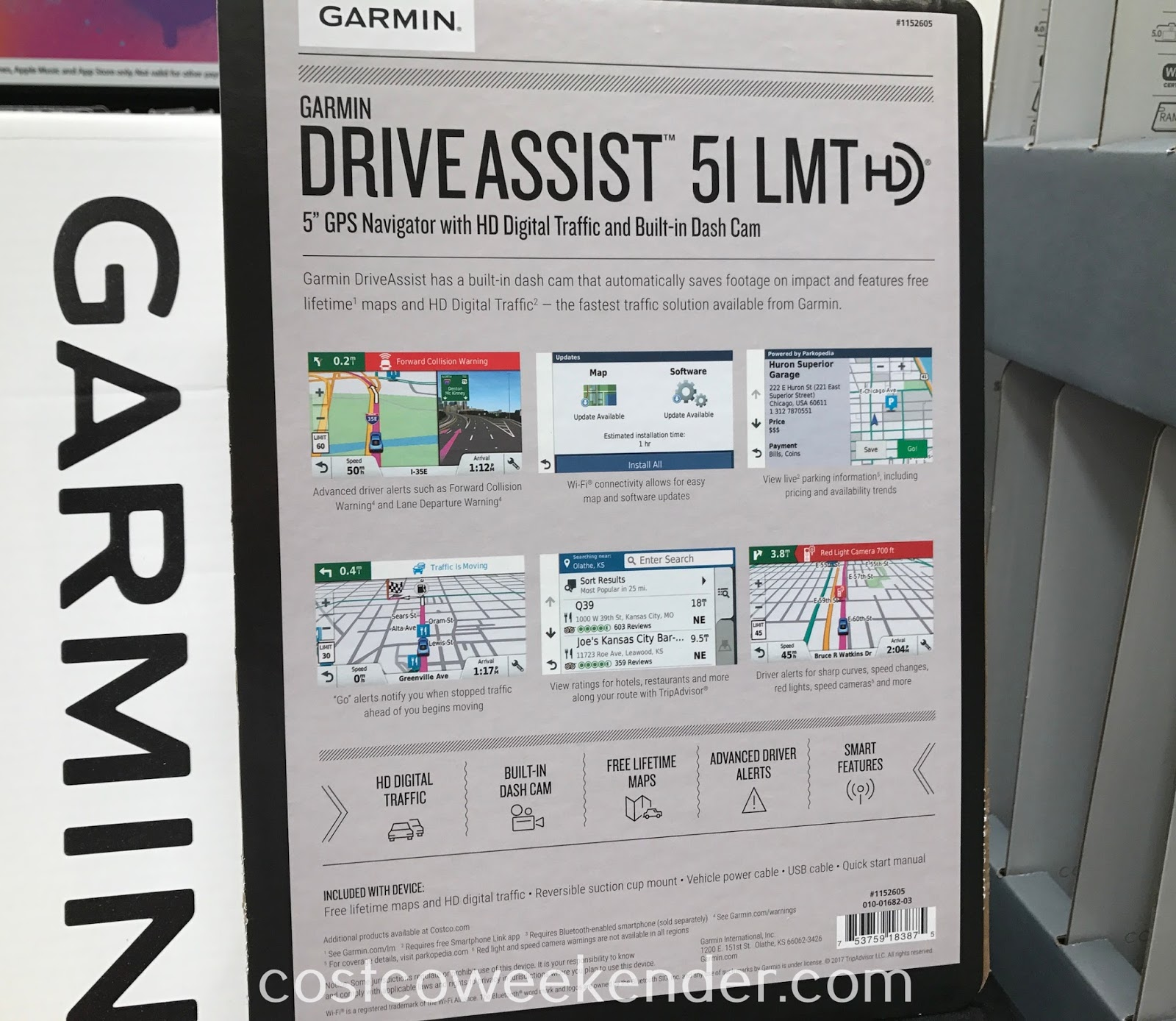Costco 1152605 - Never get lost again with the Garmin DriveAssist 51 LMT GPS