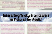 Interesting Tricky Brainteasers in Pictures for Adults