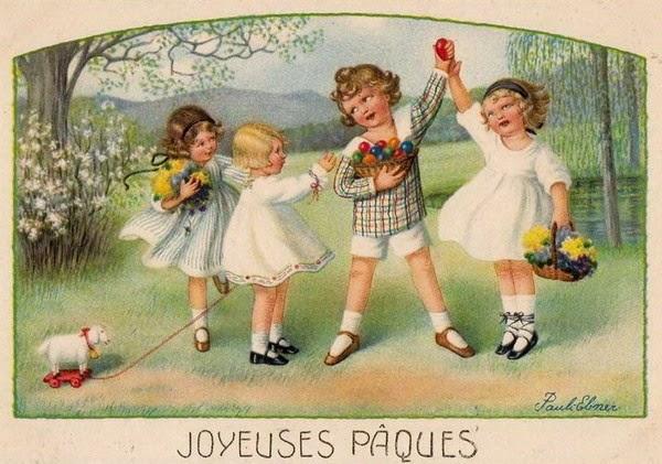 Cartes postales anciennes Joyeuses Pâques