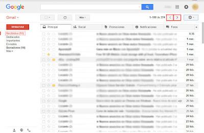 como buscar en mensajes recibidos el correo que te llegó