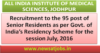 aiims+jodhpur+recruitment+2016