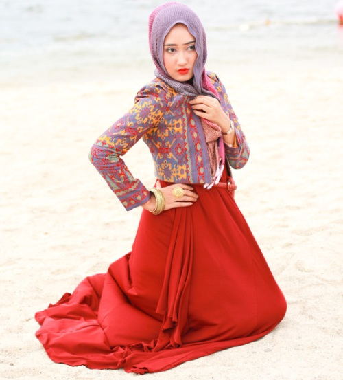 25 Koleksi Baju Batik Gamis Terupdate 2017 Model Baju Gaya Baju