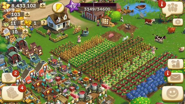 تحميل لعبة مزرعة فارم FarmVille مهكرة اخر تحديث