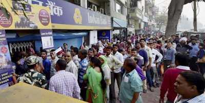 Long Queues at Indian ATMs