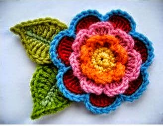 Como Tejer Flor Crochet Paso A Paso Paso A Paso - Como-hacer-una-flor-de-lana