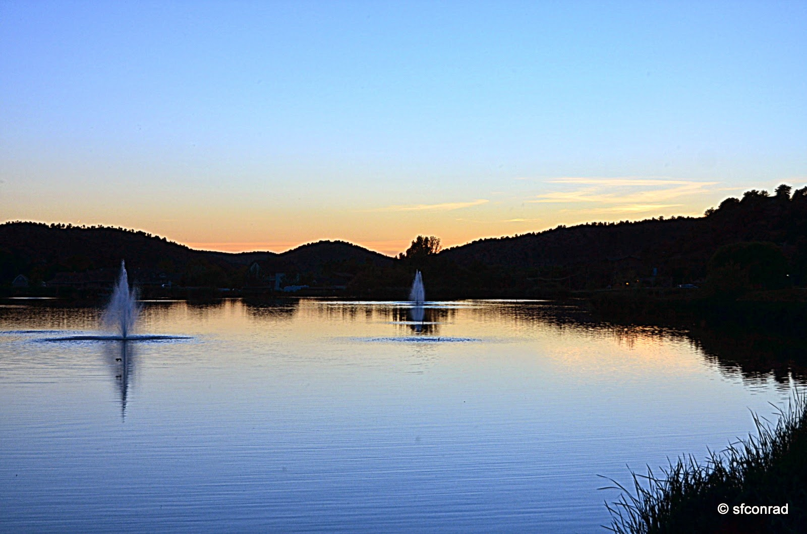 PUPPY PATHS - RVing Full-Time: Sunset At Green Valley Lake ...