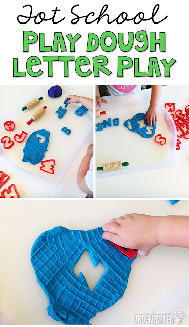 We LOVE making alphabet play dough letters. Great for tot school, preschool, or even kindergarten!